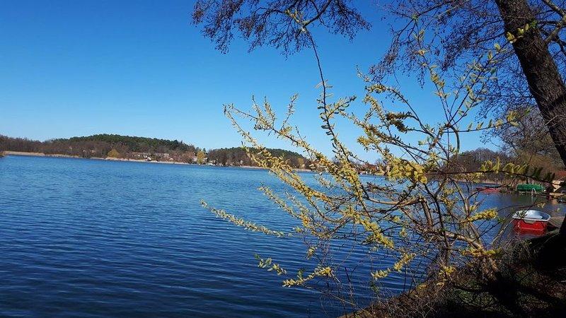Großzügige Wohnung mit Seeblick und Seezugang, eigenes Boot, Ferienwohnung in Himmelpfort