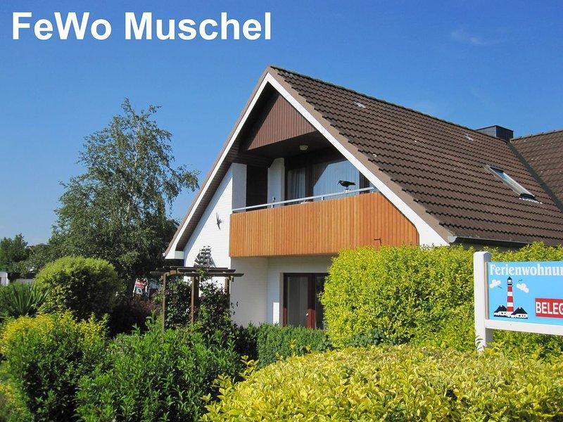FeWo Muschel ... Zuhause im Urlaub, nur 500m bis zum Strand, WLAN, vacation rental in Heide