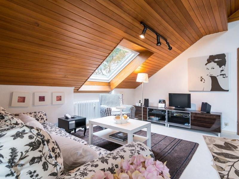 Aixpress-Apartment, luxuriöses Dach-Atelier (43 qm), Küche, Badezimmer, Balkon,, location de vacances à Enzklosterle