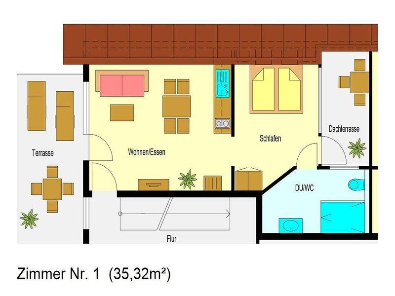 2-Zimmer-Apartment (Nr. 1), aluguéis de temporada em Bonndorf im Schwarzwald
