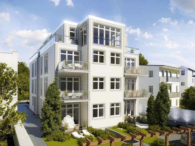 **** Sterne DTV neue Komfort 2-Zi-FW, ruhige S/W-Terrasse/Garten, Wilhelmstraße, holiday rental in Sellin