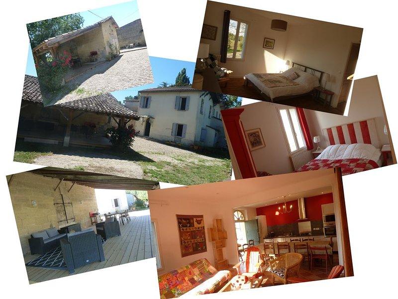 maison tranquille en bord de Dordogne proche Saint Emilion, holiday rental in Cessac