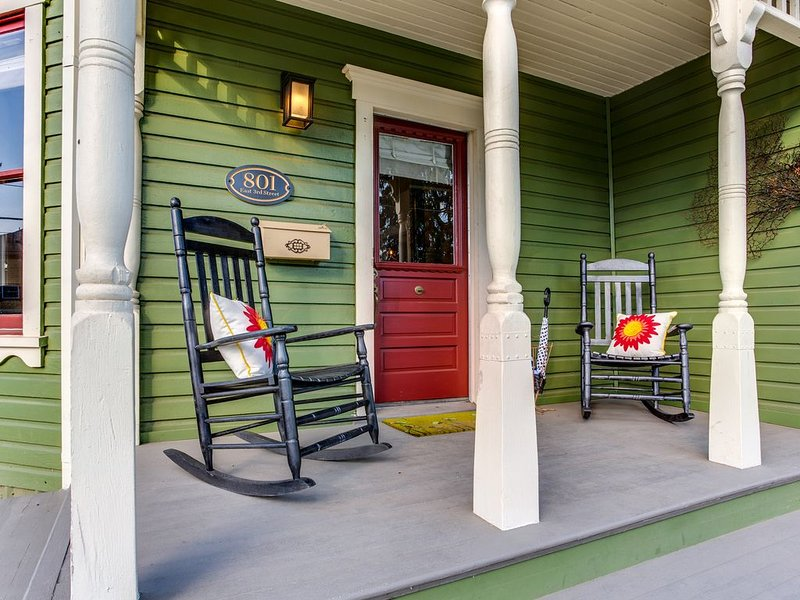 Comfortable rockers to sit on the front porch and enjoy the local passers-by