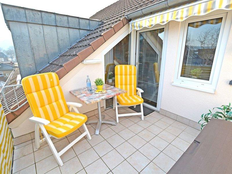 Schönes 2-Zimmer-Appartement im Kurgebiet - Balkon, TV, WLAN, innenstadtnah, Ferienwohnung in Grolsheim