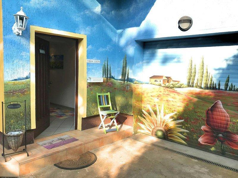 L'entrée de votre maison de vacances - l'ambiance des vacances vient!