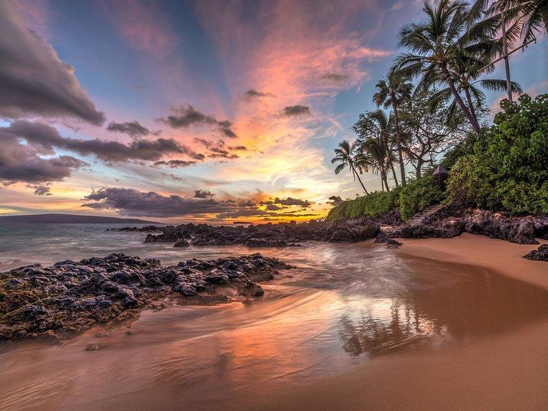 Spiaggia segreta nel sud di Maui.