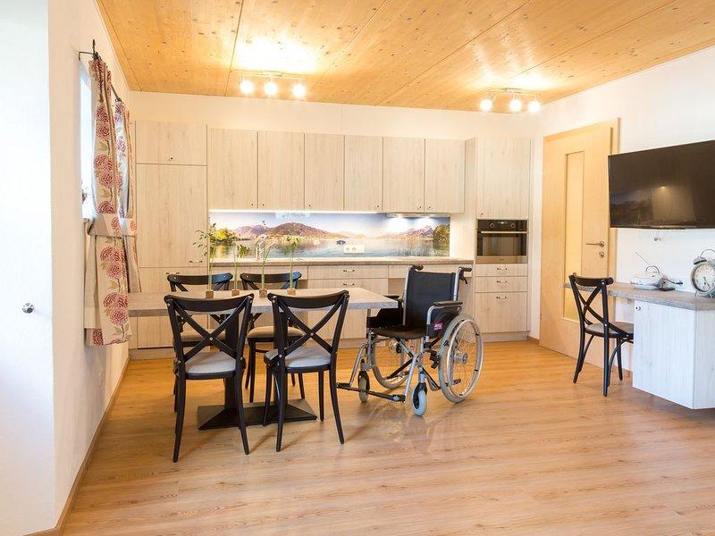 Barrierefreie Wohnung zwischen St. Wolfgang und Bad Ischl im  Salzkammergut, vacation rental in St. Wolfgang