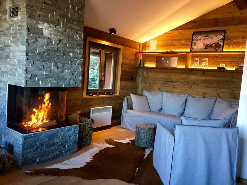 Ski in-Ski out Chalet mit Sauna im Herzen des 4 Vallées - La Tzoumaz/Verbier, holiday rental in Riddes