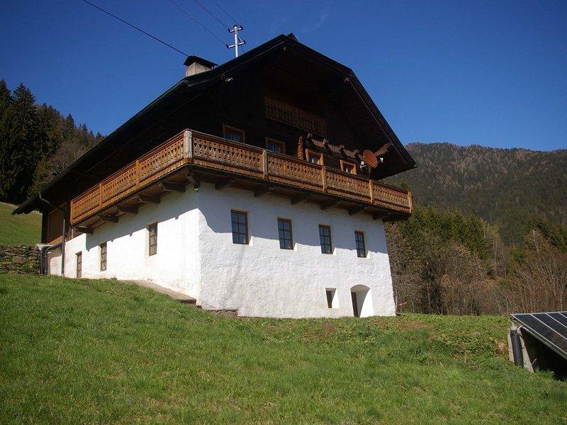 Joggele - gemütliches Ferienhaus in 1000m Seehöhe, holiday rental in Greifenburg