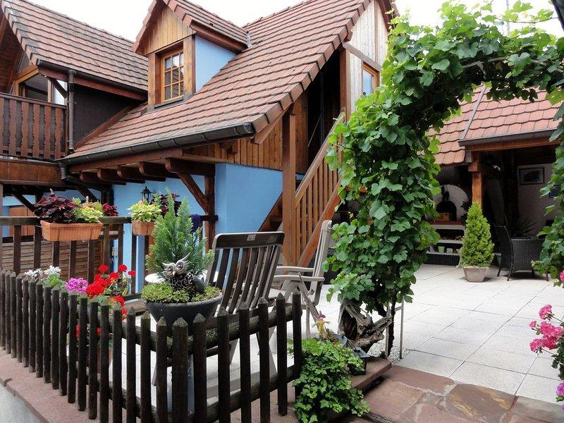 Gîte très lumineux et au calme, location de vacances à Beblenheim