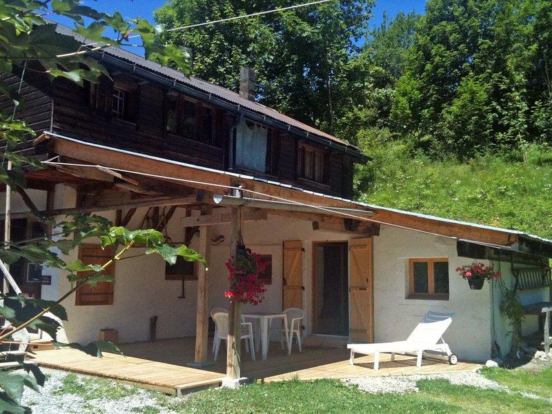 Petit T3 de charme pour 4 personnes - Terrasse abritee en RdJ de chalet - Versan, location de vacances à Praz Sur Arly