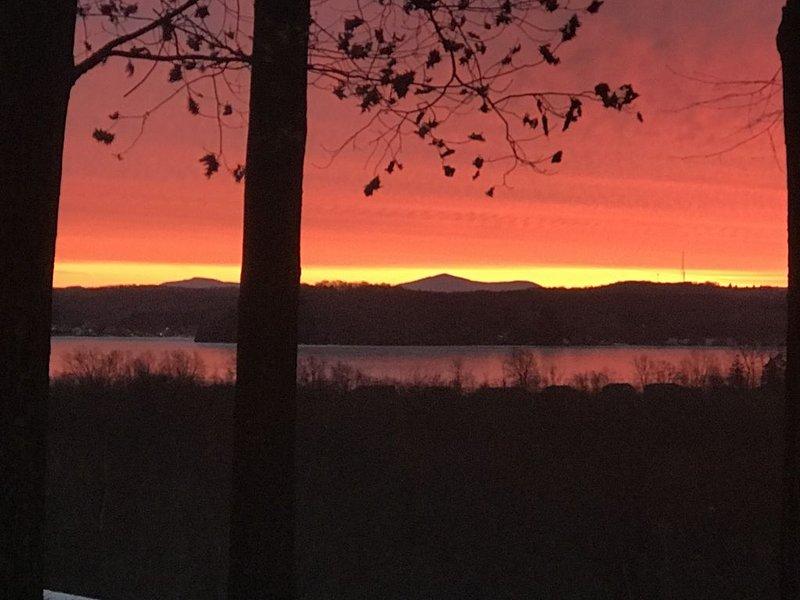 Sunrise over Saratoga Lake-Mt Equinox ahead