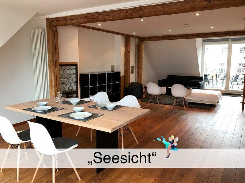 Maisonette im Altstadthaus auf der Insel mit 2 Dachterrassen und tollem Seeblick, vacation rental in Dornbirn