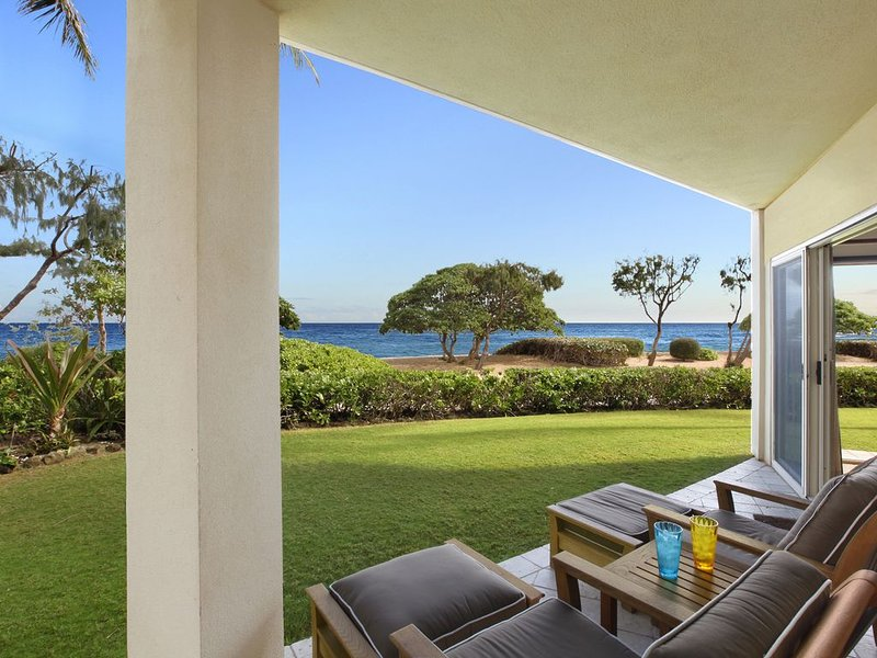 King Waipouli!** BEACH FRONT Large Yard, large floor plan CALL NOW, vacation rental in Kapaa