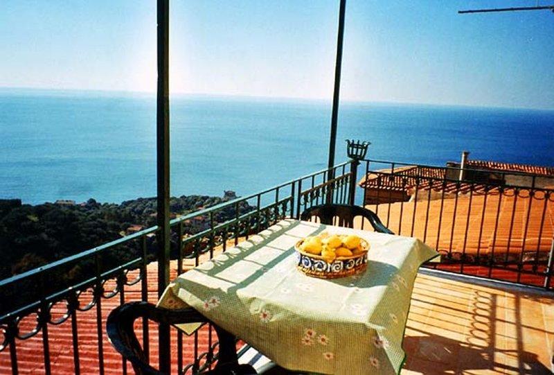 Großzügiges Wohnen in historischen Gemäuern mit herrlichem Meeresblick, location de vacances à Marina di Pisciotta