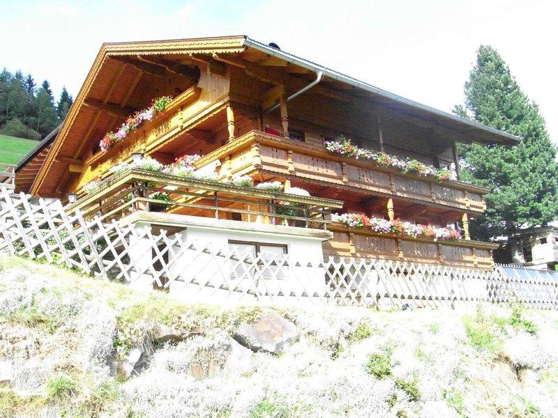herrliche Aussicht, ruhige Lage, wenige Minuten vom Skigebiet Mayrhofen entfernt, alquiler vacacional en Hippach