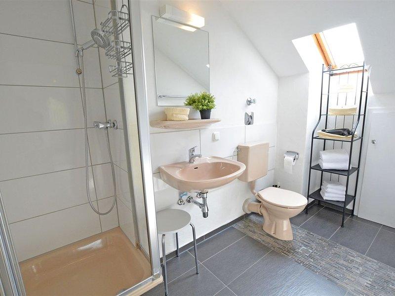 Modernes, ruhiges 1-Zimmer-Komfort-Appartement - Balkon, WLAN, TV, innenstadtnah, Ferienwohnung in Grolsheim