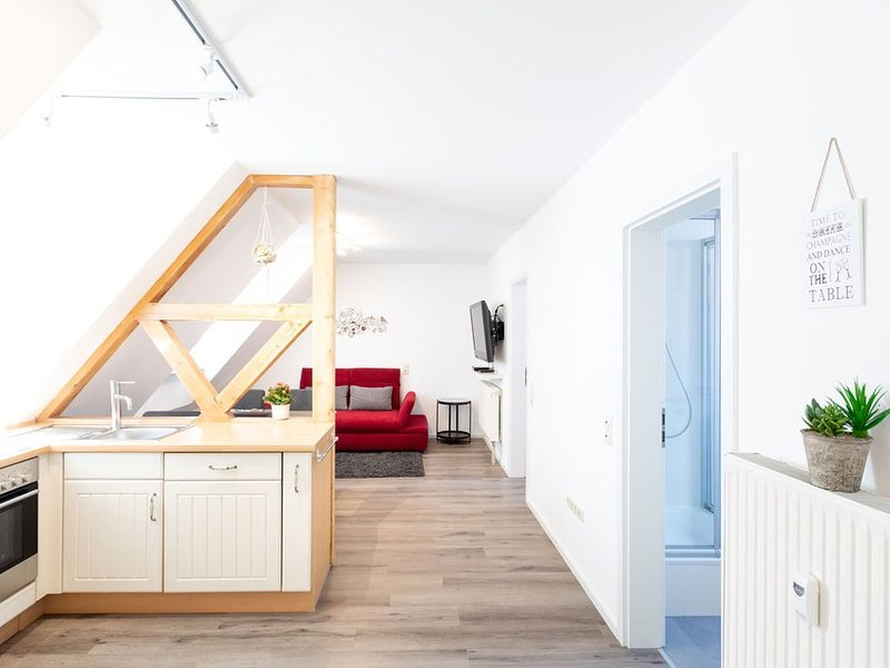 Apartment Mittendrin, 50sqm with 2 bedrooms-kitchen-living room