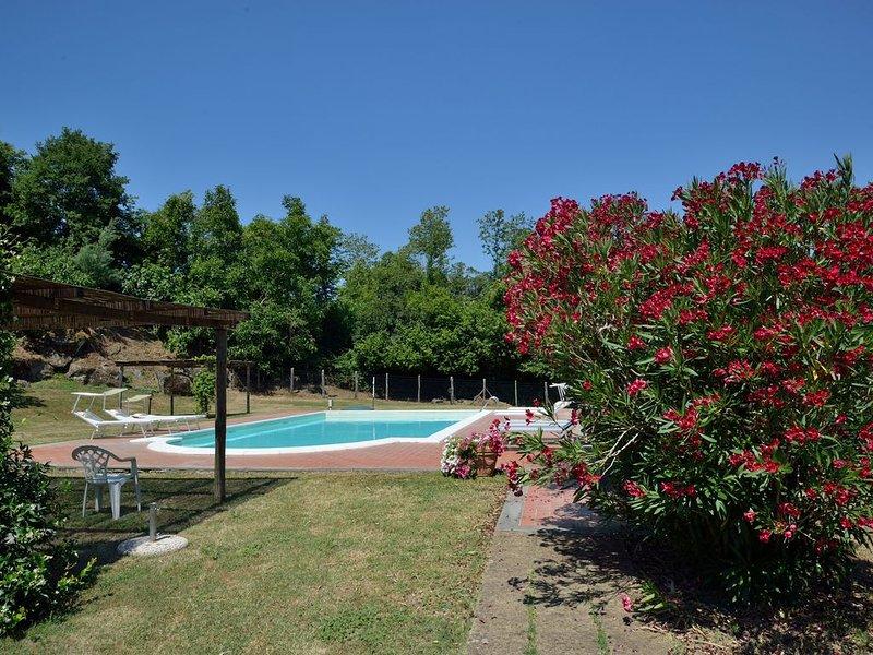 Große und komfortable Ferienvilla mit Blick in sehr ruhiger Alleinlage, casa vacanza a Lubriano