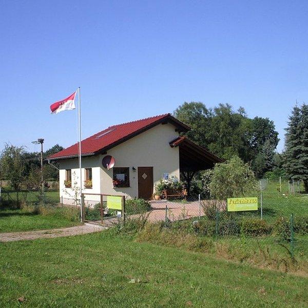 Mit Storch, Schaf und Huhn an der Oder wohnen, location de vacances à Lebus