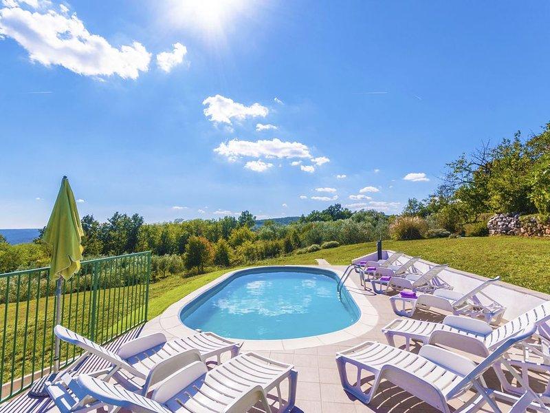 Romantische Villa mit Pool und spektakularem Blick, holiday rental in Ruzici