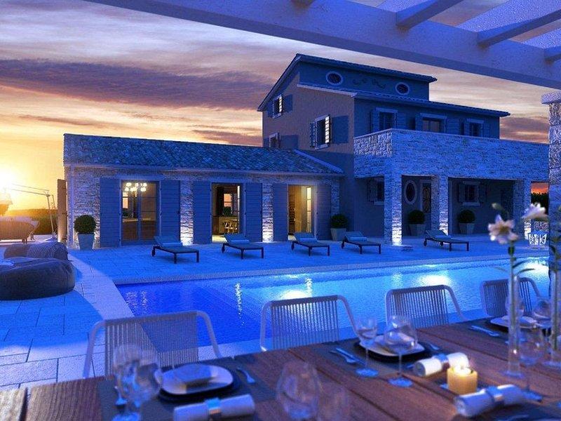 Traumhafte Designer-Villa mit atemberaubendem Meerblick und großem Pool, Ferienwohnung in Visnjan