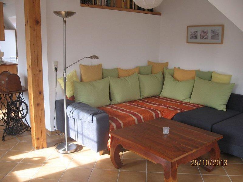 Urlaub beim Winzer - helle 65m²-Wohnung unterhalb der Weinberge von Pillnitz, alquiler de vacaciones en Kreischa
