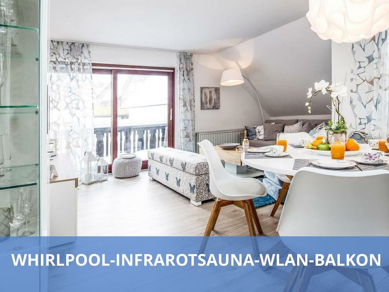 TOP Lage / TOP Ausstattung │✔ Infrarotsauna│✔ Whirlpool│✔ WLAN│✔ Balkon│✔ Loggia, holiday rental in Langewiese