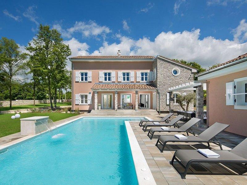 geschmackvolle Luxusvilla für 12 Personen mit beheiztem Pool, Sauna, Weinbar, holiday rental in Butkovici
