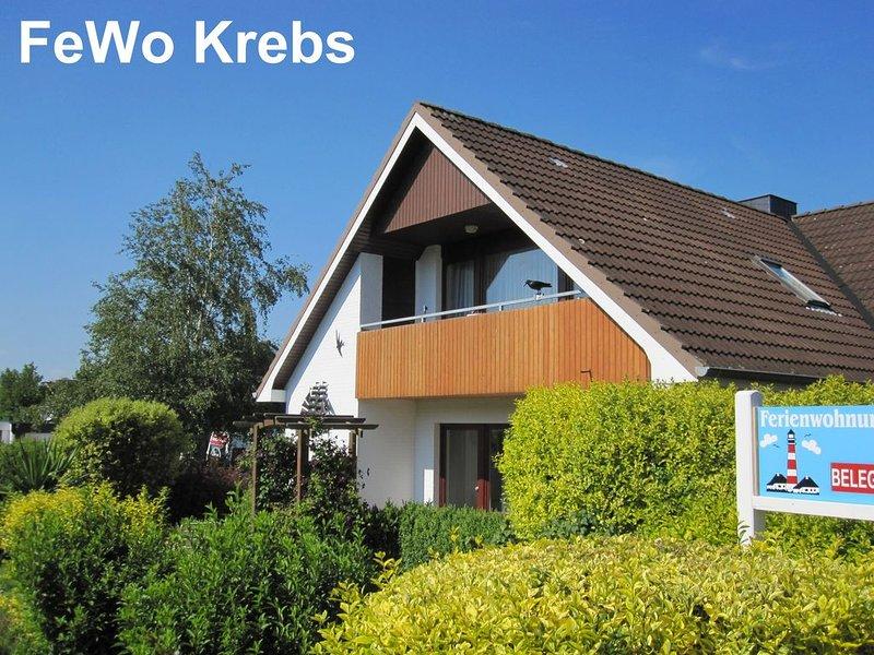 FeWo Krebs ... Zuhause im Urlaub, nur 500m bis zum Strand, vacation rental in Heide
