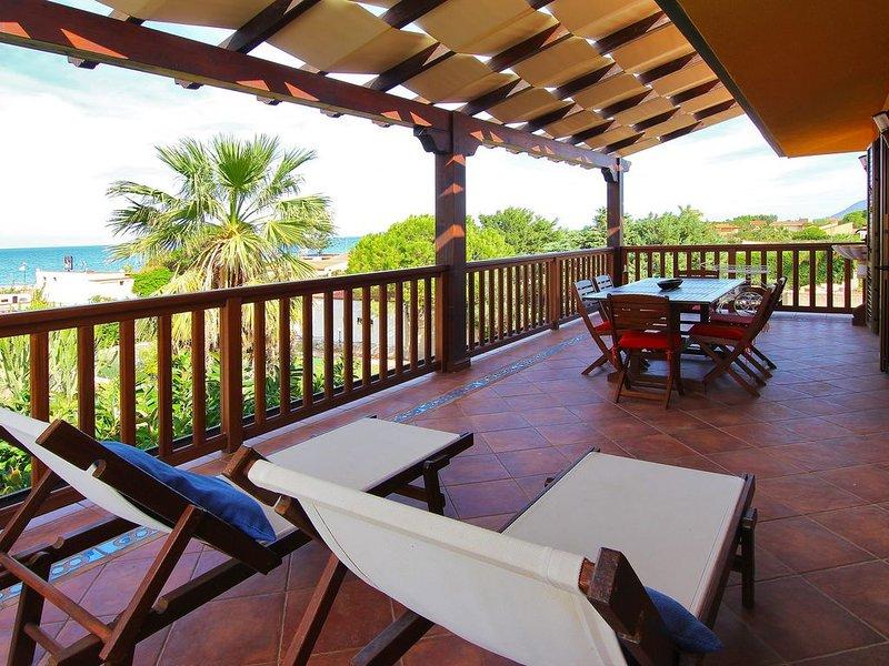 Apartment Cobalto - 2 Bedrooms, 2 Baths, SEA VIEW, Terrace, WiFi, Public Pool, holiday rental in Campofelice di Roccella