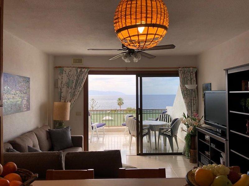 charmantes, gemütliches 2 Zimmer Apartment mit fantastischen Meerblick, holiday rental in Acantilado de los Gigantes