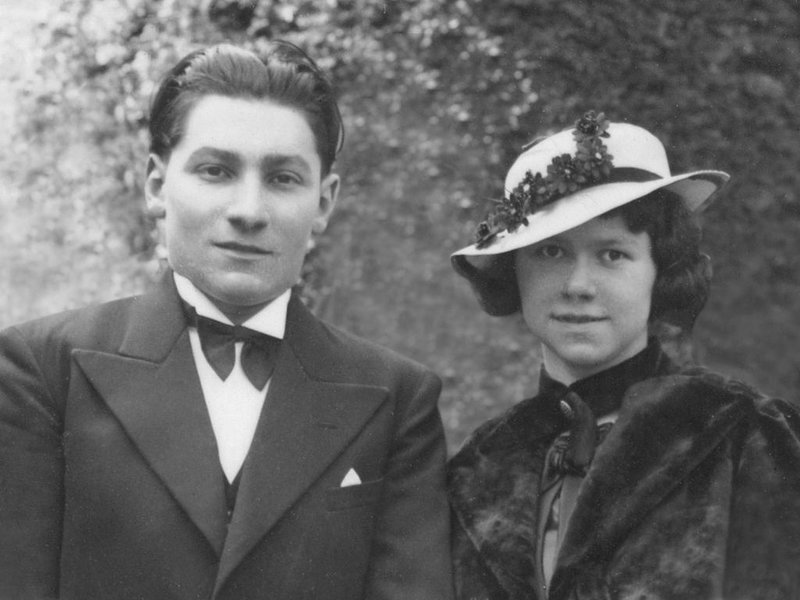 Simonne with her husband in 1936