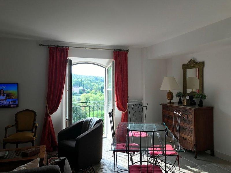 Superbe T3 avec Vue en Provence - confort  -'Maison des Arcades' 3 Pièces - N+1, holiday rental in Villecroze
