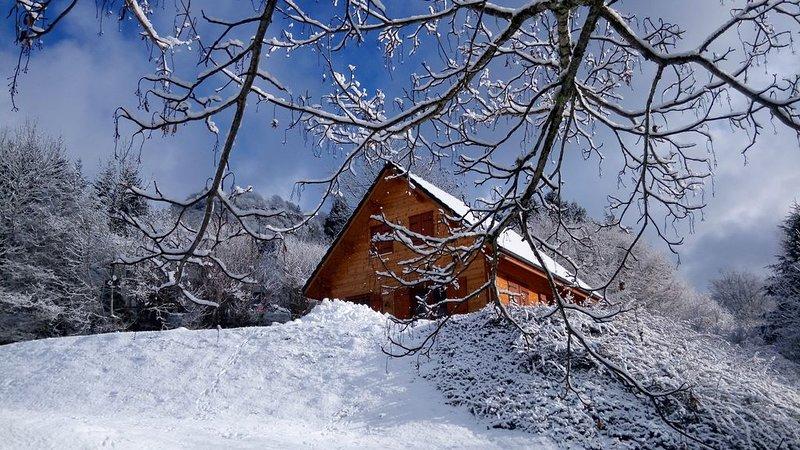 Chalet Ô Mont-Dore. Auvergne 63240 Le Mont-Dore.  Jusqu'à 6 personnes. Avec WIFI, location de vacances à Rochefort-Montagne