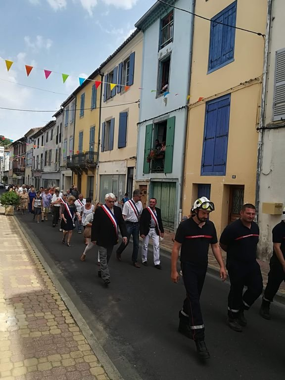 Fete Nationale march in front of our house