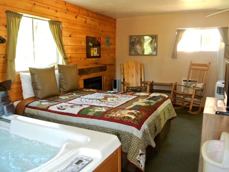 CABIN #5 - WOLF'S DEN (JACUZZI & FIREPLACE), holiday rental in Forest Lakes