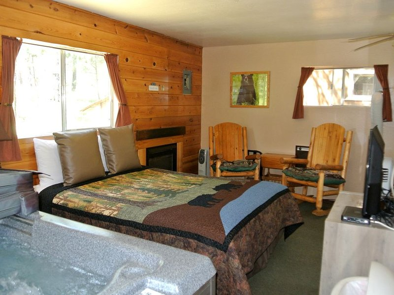 CABIN #4 - BEAR CLAW (JACUZZI & FIREPLACE), holiday rental in Forest Lakes