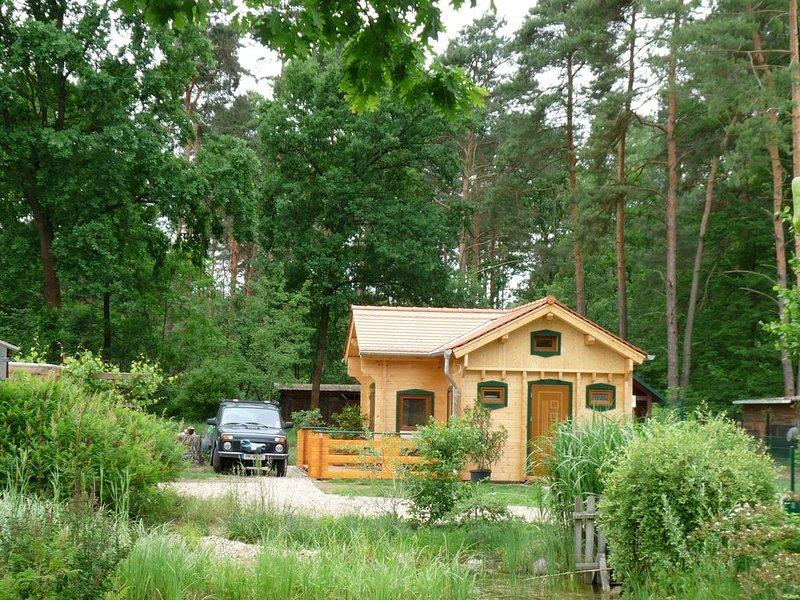 Komfortables Blockhaus in der Waldgemeinde Borkheide, holiday rental in Niemegk