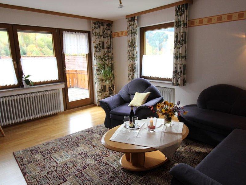 Ferienwohnung Typ B, 74qm, 1 Schlafzimmer, max. 4 Personen, holiday rental in Bad Rippoldsau-Schapbach