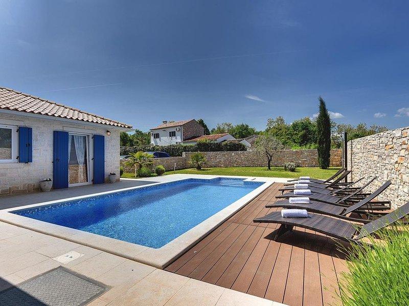 Charmante Villa mit einem beheiztem Außenpool, Fahrräder, Tischfußball, Playstat, holiday rental in Ruzici