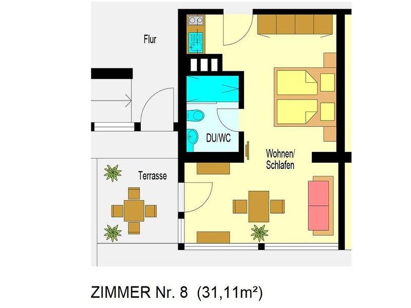1-Zimmer-Apartment (Nr. 8), aluguéis de temporada em Bonndorf im Schwarzwald