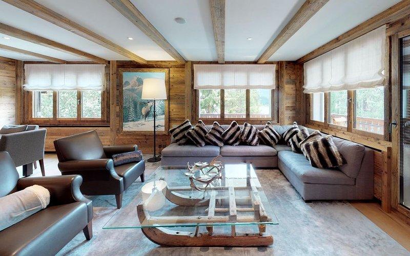 Diese luxuriöse Wohnung trifft den Mountain Life-Style der heutigen Zeit, vacation rental in St. Moritz