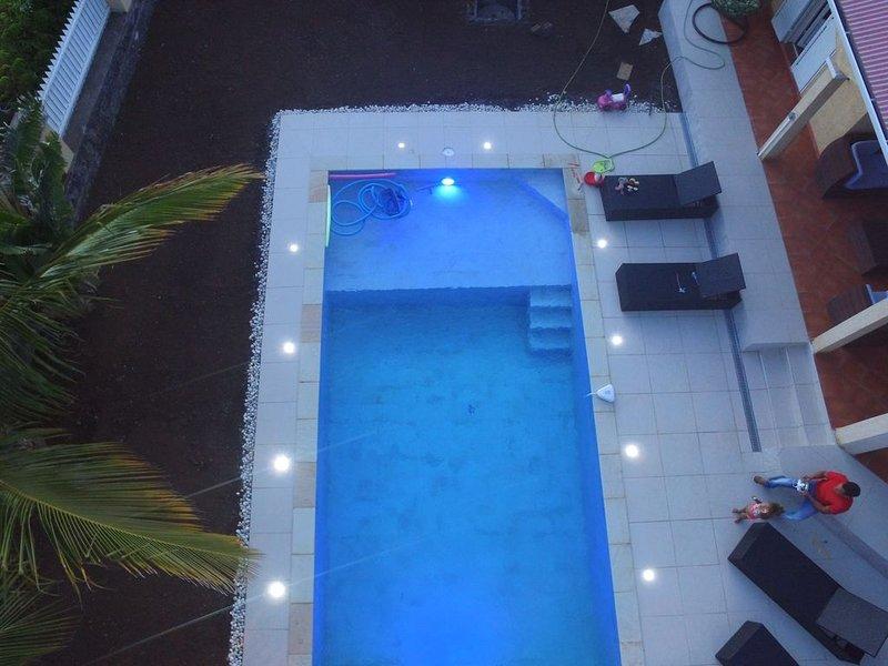 Salt pool, LED RGB lights