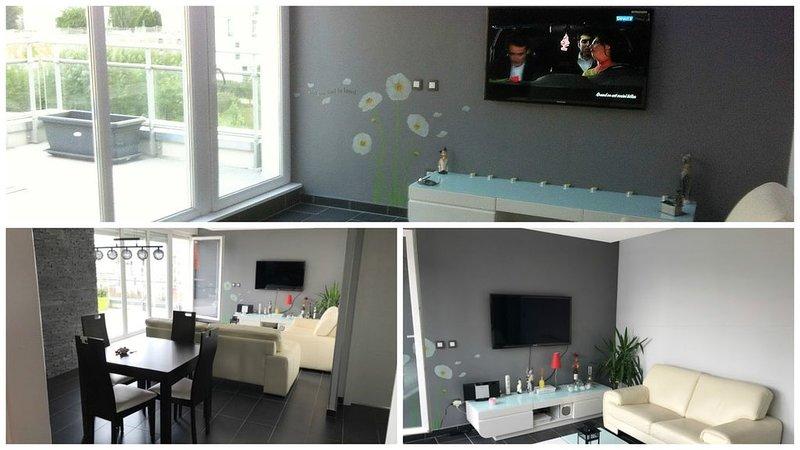 Très bel appartement neuf et moderne 72m* à Obernai, location de vacances à Bernardswiller