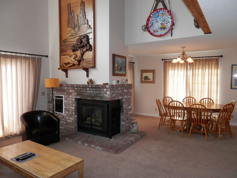this unit has the best views of June Mountain Ski Lift, Carson Peak and Gull Lak, vacation rental in June Lake