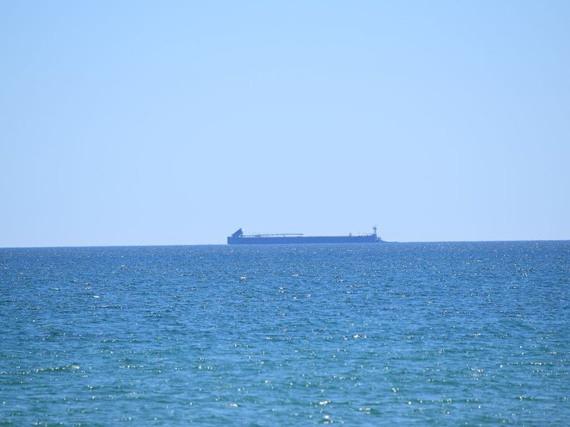 Watching for freighters is a fun pastime!