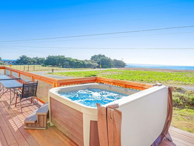 Updated home w/ striking blue & whitewater views plus private hot tub - dogs OK, vacation rental in Caspar