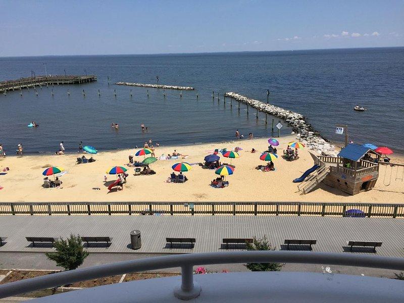 Vue de la baie de Chesapeake depuis le balcon