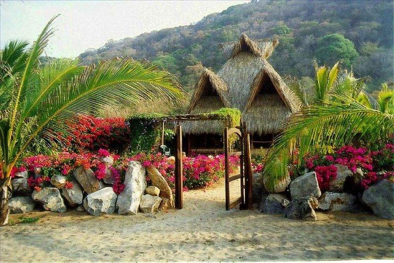 Great Beachfront Palapa in Troncones -- Sleeps 6/8, holiday rental in Troncones